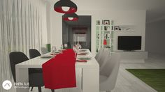 Livingroom with Dining design by Anita Ilie Casa Patrata Dining, Living Room, Interior Design, Table, Projects, Furniture, Home Decor, Houses, Nest Design