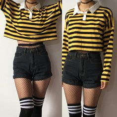 2018 new bee happy collection - long sleeve . 2018 new bee happy collection – long sleeve top – Edgy Outfits, Cute Casual Outfits, Girl Outfits, Fashion Outfits, Summer Outfits, Hipster Outfits, Cropped Top Outfits, Cute Grunge Outfits, Grunge Clothes