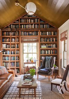 Home Library Rooms, Home Library Design, Home Libraries, Dream Library, Home Office Design, House Interior Design, Cozy Home Library, Future Library, Public Libraries