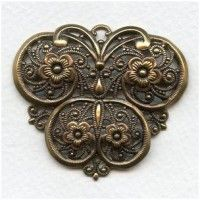 filigrees Brass - VintageJewelrySupplies.com