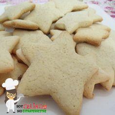 Galletas dulces para celíacos Gluten Free Recipes, Free Food, Dairy Free, Food And Drink, Cookies, Sweet, Desserts, Mantecaditos, Scones