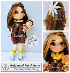 Amigurumi Doll Free Crochet Pattern – Doll Free Pattern Free Crochet, Crochet Hats, Amigurumi Doll, Free Pattern, Crochet Patterns, Weaving, Shapes, Dolls, Knitting