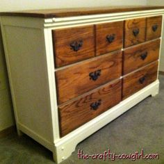 do this to the dresser that I've had since I was a kid, put it in the dining room