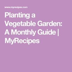 Planting a Vegetable Garden: A Monthly Guide | MyRecipes