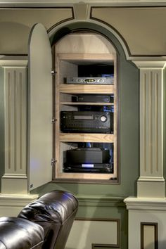 Home Theater Traditional Home Theater. Cabinet IdeasCabinet DesignHome  TheatersHome ...