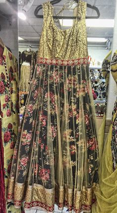 A personal favorite from my Etsy shop https://www.etsy.com/listing/257951774/floral-maxi-dress-with-glittering-gold