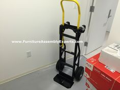 harper hand truck assembled for the washington DC Department of Human Services by Furniture Assembly Experts LLC