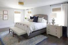 The master bedroom and bath of our Haddonfield project!