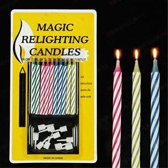 Birthday Candles Jokes Gags Pranks Maker Trick Fun Novelty Funny Gadgets Blague Tricky Not Blowing Out Candles Toys