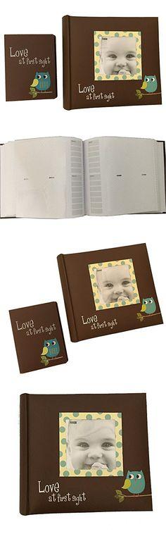 Blue Baby Owl Love at First Sight Photo Albums Gift Bundle (1- 9x 8.5 album & 1 pocket album)