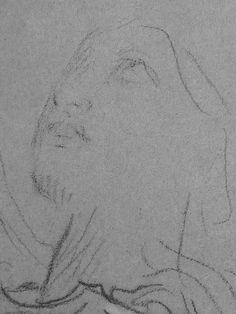 CHASSERIAU Théodore,1843 - Ste Marie l'Egyptienne, Légende, Etude pour l'Eglise St-Merri - drawing - Détail 10