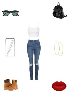 """""""Untitled #3001"""" by webbgyrl2000 ❤ liked on Polyvore featuring PARENTESI, Topshop, Timberland, Ray-Ban, River Island, Lana and Winky Lux"""