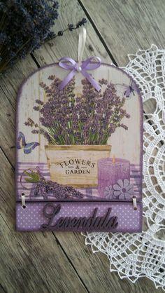 Lavender Home Decor Decoupage Handmade