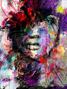 "Saatchi Art Artist yossi kotler; Painting, ""soul inspiration"" #art Draw Objects, then splatter and work into with ink"