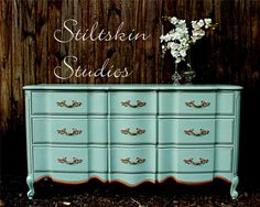 RESERVED Susie Whisper Green French Provincial by StiltskinStudios, $800.00