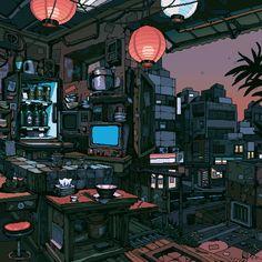 Wolf Boy Anime, Pixel Art Background, Amsterdam Red Light District, Anime Pixel Art, Anime Art, Pixel Animation, Neon Aesthetic, Light Music, Scenery Wallpaper