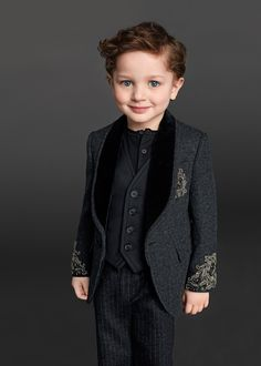 Look at those eyes, that smile & that suit - Dolce & Gabbana Children Winter Collection 2016