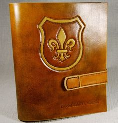 Personalized A5 Leather Journal, Handmade Leather Journal, Custom Leather Journal, Notebook, Diary, Fleur de lis, Gift, TiVergy Journal by TiVergy on Etsy