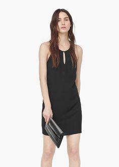 Scoop-back bodycon dress - Dresses for Women | MANGO