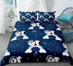 Rainbow Panda Bedding Set