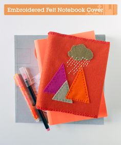 Makeover a Notebook With an Embroidered Felt Cover | Crafttuts+ #Tutorial #Felt #Geo #Embroidery #DIY #Craft