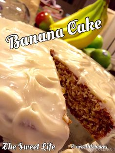Perfect for a snack, dessert, or even a slice for breakfast, this is the king of banana cakes! Can be made in two layers and/or gluten free also. Recipe courtesy of Cooking Classy