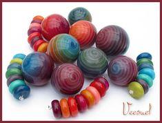 Veesuel (Vee), Vortex Beads, polymer beads