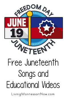 Lots of helpful free educational videos about the June 19 Juneteenth Freedom Day celebration along with some Juneteenth songs. Videos for a variety of ages - Living Montessori Now #antiracist #Juneteenth #freeeducationalvideos #Juneteenthvideos #BlackLivesMatter What Is Juneteenth, Student Cartoon, Positivity Blog, Freedom Day, Free Characters, Free Songs, Pbs Kids, June 19, Character Education