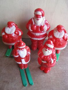 Vintage Plastic Santa Claus Figures | eBay