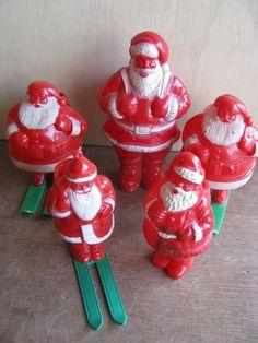 Vintage Plastic Santa Claus Figures   eBay