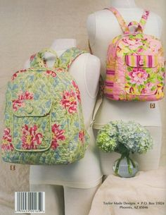 backpack free pattern | Backpacks pattern-book by Cindy Taylor Oates