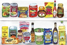 Food Cupboard - Promotional illustration
