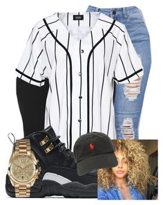 """""""Untitled #229"""" by brooklynnmckenna ❤ liked on Polyvore featuring A Question Of, NIKE, Ralph Lauren and Michael Kors"""