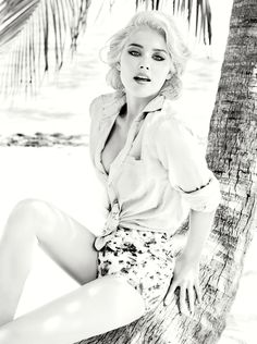 Amber Heard modeling for Guess.