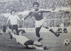Shéu durante o desafio entre o SL Benfica e o Vitoria SC na época de 1977/78, no Estádio da Luz.