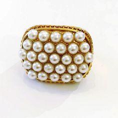 Ring By Vila Veloni Pearls Elegant