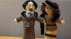A couple of Gold Rush-era figures - Dr. Louis Alphonse Paré, who worked in Tagish, and Léa Moreau. There are 21 handmade dolls in all, representing famous Yukon francophones, from the 1800s to the present.