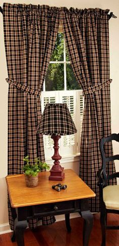 Providence Plaid Barn Red Curtain Panels 72