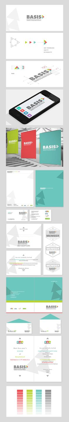 BASIS - Non profit branding on Behance BASIS - Bangladesh Association of Software and Information Services is the non-profit national trade body for Software & IT Enabled Service industry of Bangladesh. Established in 1997, the association has been working with a vision of developing vibrant software & IT service industry in the country.   I have had the honor to work on the BASIS rebranding project and have come up with the following brand logo and whole corporate identity system.