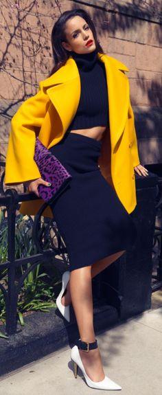 Yellow coat ♥ Sofia Resing