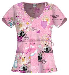 Cinderella Disney Scrubs by Cherokee Tooniforms Cute Scrubs Uniform, Cute Nursing Scrubs, Pediatric Scrubs, Pediatric Nursing, Medical Scrubs, Nurse Scrubs, Disney Scrubs, Stylish Scrubs, Scrub Life