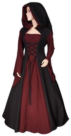 Mittelalterkleid nach Maß gefertigt mit Farbwahl Gewand Gothic Mittelalter LARP