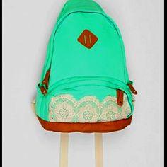 Cute mint backpack