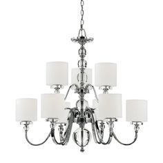 Quoizel Downtown Two Tier 9-Light Chandelier | Overstock™ Shopping ...