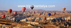 Lassen Sie uns von Alanya nach Kapadokien fahren. Kapadokien von Alanya, einer der fantastischsten Regionen der Türkei. Einzigartige Landschaften mit bizarren Tuffsteinformationen. Tauchen Sie ein in eine Farbenwelt des Rotes, hell Gelb und Grün. Eine fremde Welt welches ihre Vorstellungen inspirieren wird. Besuchen Sie die Highlights von Kappadokien. Mehrere versteckte Kirchen und alte höhlenstaedte unter der Erde.