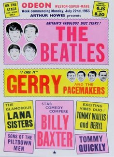 1963 concert poster