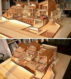 Maisons de poupées Maquette, architecture  Via Arcfly