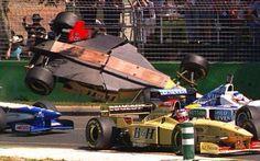 Martin Brundle (Jordan-Peugeot) Grand prix d'Australie - Circuit de l'Albert Park 1996
