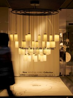 The most profound things are inexpressible. Like the light, the state of mind of feeling at home.   New Cirio Chandelier, the warm light of LED candles designed by Estudi Antoni Arola.  Picture by Clara Quintana at Punto Luz with Nanimarquina.