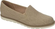 Naturalizer Ideally - Frappe Taupe Washed Canvas  with FREE Shipping & Returns. The Ideally is a slip-on design with an antimicrobial sock in microfiber. The insole is designed for